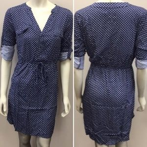 NWT ModCloth Sunny Girl Navy Blue Shirt Dress Sz L